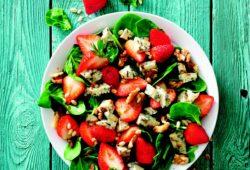 Originale, aux fraises et bleu