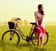 J'ai ressorti mon vieux vélo!
